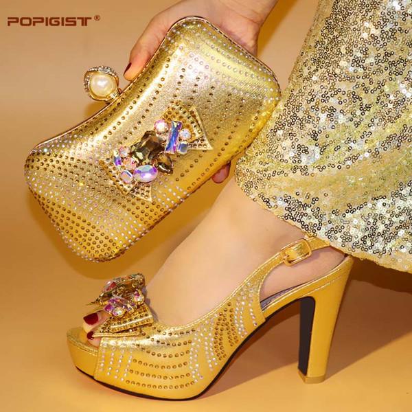 Compre Elegantes Zapatos A Juego Italianos Y Conjunto De Bolsos Para Bodas Elegantes Y Nuevos Calzados Para Mujeres Con Bolsos De Mano Conjunto