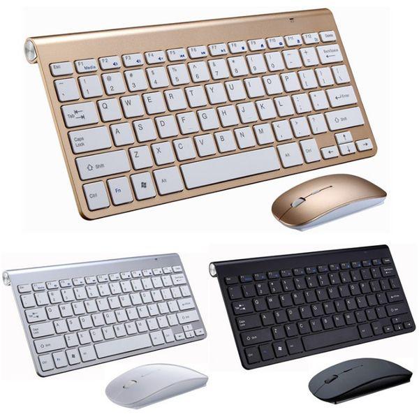 Tastiera 2.4G e mouse wireless Mini Tastiera Multimediale mouse insieme combinato per laptop portatili Mac Desktop PC TV forniture per ufficio caldo