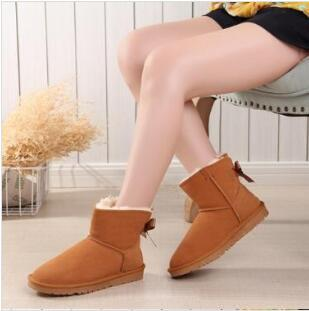 2020 New Women Snow Boots Australia Style Waterproof Cow Suede Leather Winter Lady Outdoor Boots Brand Ivg Size US3-13