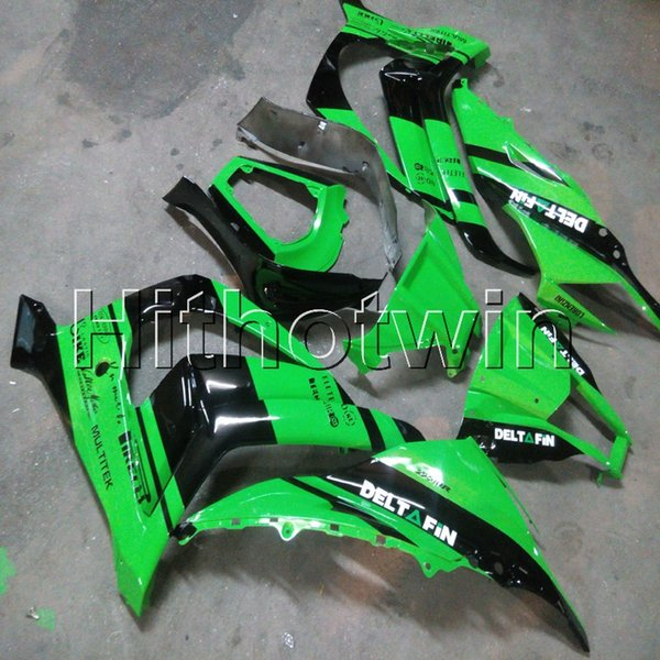 Gifts+Tank cover+ INJECTION MOLD green ABS motorcycle cover for Kawasaki ZX-10R 11-13 ZX10R 2011 2012 2013