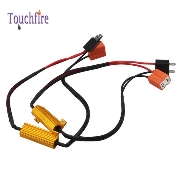 2Pcs 50W H7 / 9006 / HB4 H4 Hi-Lo H1 H3 9012 faro resistore del carico LED Canbus fendinebbia Decoder Nessun errore Attenzione Resistenza