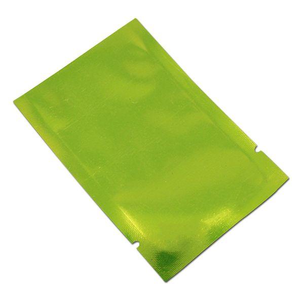 300pcs green open top mylar heat seal vacuum package bag aluminum foil face mask power storage bag dry food packing bag