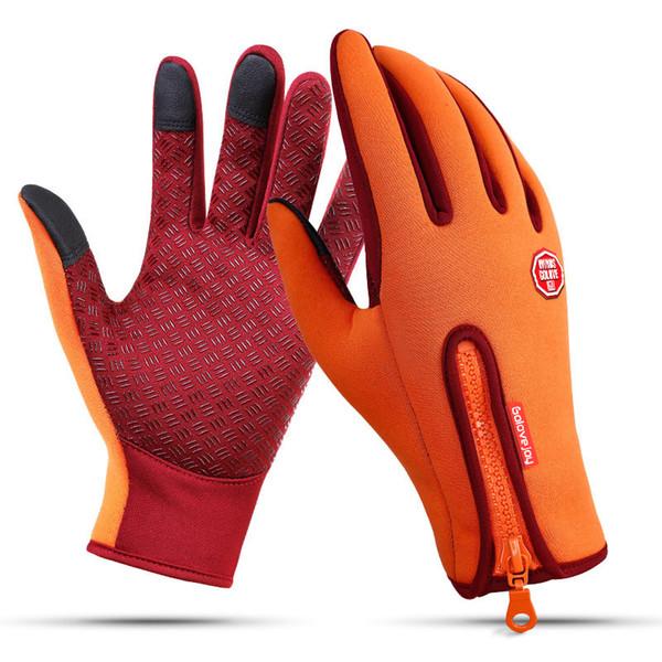 Nuovo 1 paio inverno windstopper impermeabile touch screen da sci da uomo guanti caldi per equitazione esterna donne guanti da moto luva moto O1