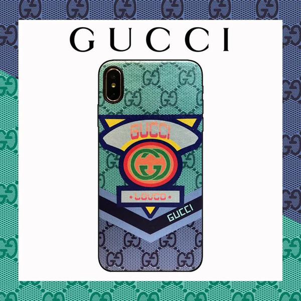 Cas de téléphone de marque haut de gamme pour iPhone X XS XR Xs Max 6 6plus 7/8 7/8 Plus Top qualité couverture en cuir affaire ours cochon lapin impression