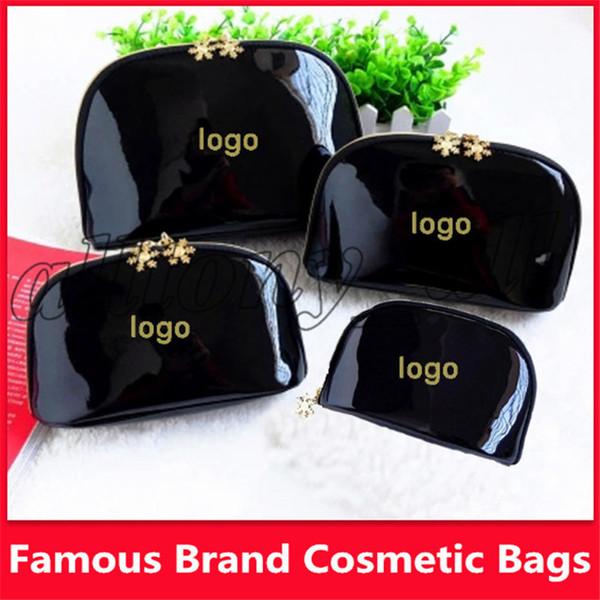 Famosa marca de Floco De Neve 4 pçs / set caso de cosméticos de maquiagem de luxo organizador saco de beleza de higiene saco de lavagem bolsa de embreagem tote presente VIP