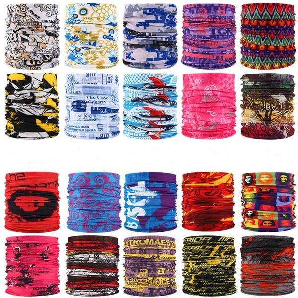 best selling multiple styles Printed Headband Bandana Scarf Multifunctional Seamless Face Mask Tube Ring Scarf Men Women TO255