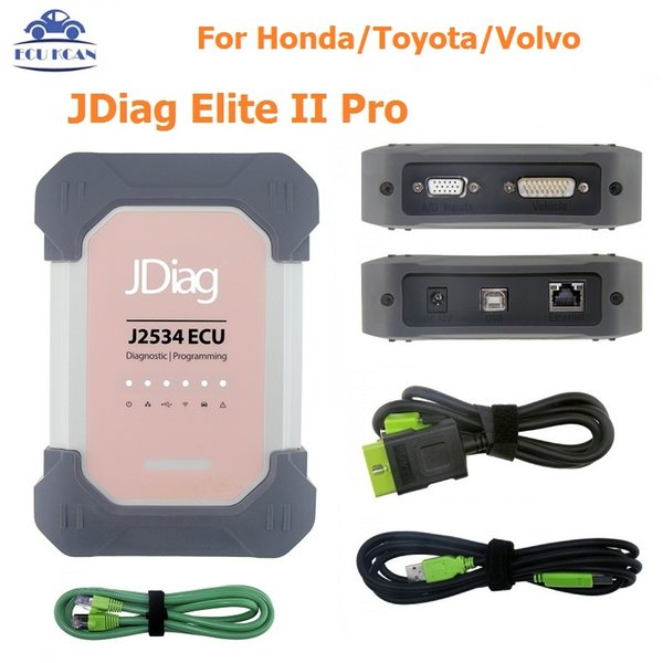 Car Diagnostic Tool auto diagnostic pro JDiag Elite II diagnostic&ECU programmer tool JDiag J2534 For Honda/Toyota/Volvo