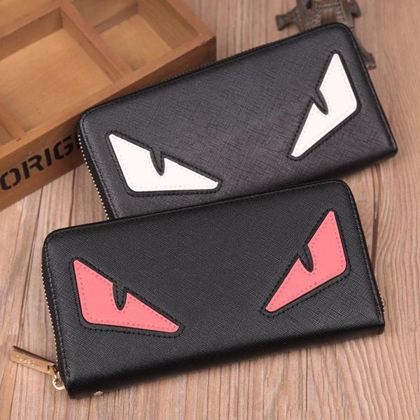 Custom color Little monster accordion wallet in genuine stingray leather/Most popular cute monster purse in wholesale