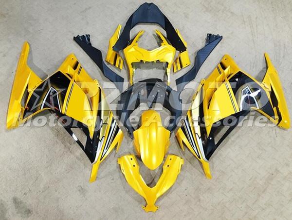 4Gifts iniezione Mold nuovo ABS per moto completa carenature kit di misura per la Kawasaki Ninja 300 EX300 300R 2013 2014 2015 2016 2017 set di giallo