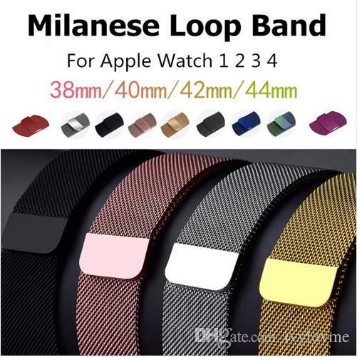 Replacement Watchband Milanese Loop Band for Apple Watch Series 2 3 4 Magnetic Stainless Steel Strap Bracelet 38MM 42MM 40mm 44mm for iwatch