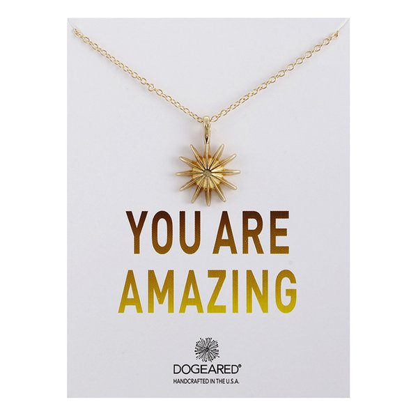 2017 New Dogeared Necklace With Card You are amazing Gold sun star Pendant Noble and Delicate Silver Choker Valentine Day Christmas Gift