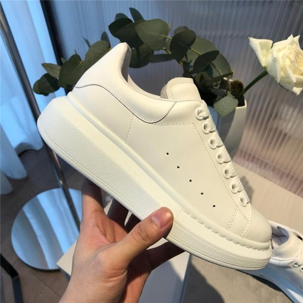 Cheap Luxury Design Casual Shoes Womens Mens Trainers Leather Platform Shoes Flat Casual Party Wedding Shoes Suede Sports Sneakers couple