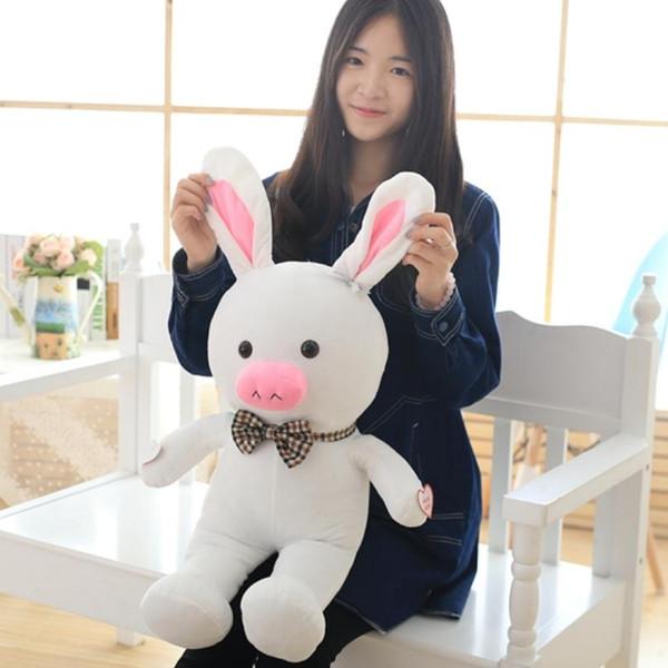 pig rabbit Free shipping 1pcs 50cm special cute soft anime pig rabbit cuddly sleep plush animal doll hold pillow stuffed toy birthday gift