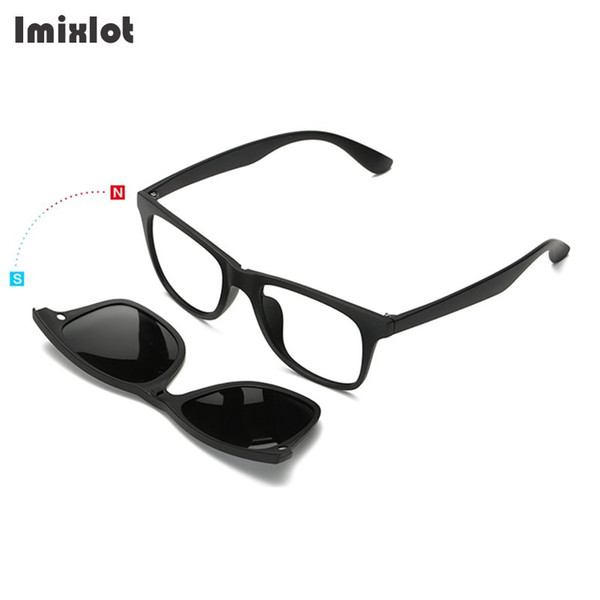 6ca283d4749 Imixlot 5pc set Magnetic Clip Sunglasses Women Glasses with Magnetic Clip  on Sunglasses Polarized For Male Multi-Purpose Eyewear
