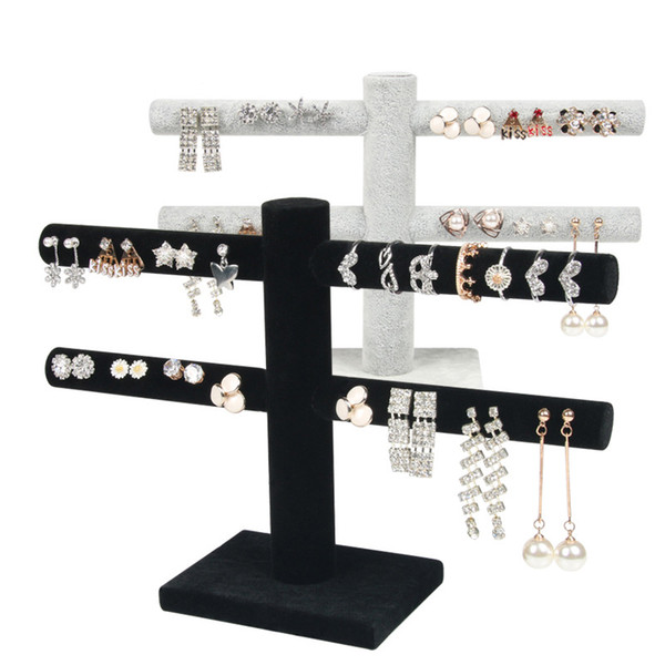 best selling Stud earrings earring display stand Jewelry rack jewelry counter velvet ornaments ring necklace bracelet display props