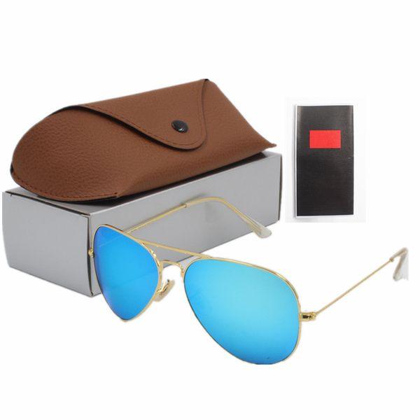 Güneş gözlüğü marka moda tasarımcısı bir kadın ve erkek moda gözlük oluşturmak için 14 çeşit renk cam kahverengi kutu ücretsiz kargo
