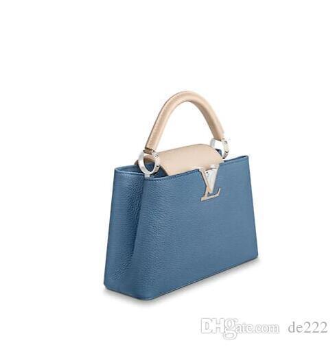 Аутентичные LVLV Сумка Capucines Сумки Верхние Ручки 2019 марка модный дизайнер роскошные сумки рюкзак через плечо через плечо сумка Nude Womens