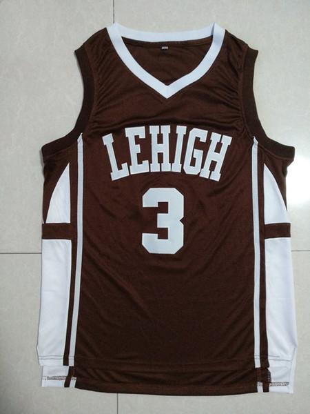 Maillots de basket-ball NCAA Hommes Pas Cher CJ McCollum Maillots Surpiqués Jersey Lehigh Mountain Hawks College Taille S-XXL