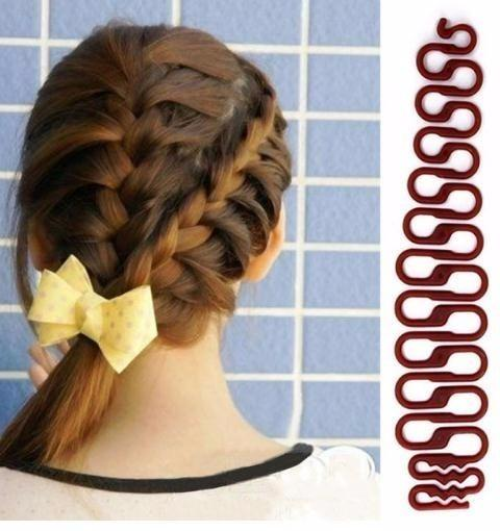 Hot Sale 1pc Braiding Tool Weave Braider Hair Pin Bun Roller Hair Twist Styling Maker Diy Styling Accessories