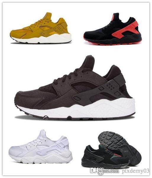 Acheter Nike Air Huarache Run 1 Vente En Gros Huarache 1 4 Triple Blanc Noir Rouge Gris Hommes Chaussures De Course Ultra Run Sneakers Huaraches