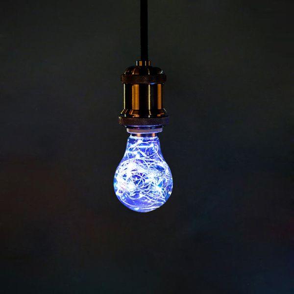 A60 3W Creative Edison Light Bulb Vintage Decoration LED Filament lamp Copper Wire String E27 220V Replace Incandescent Bulbs