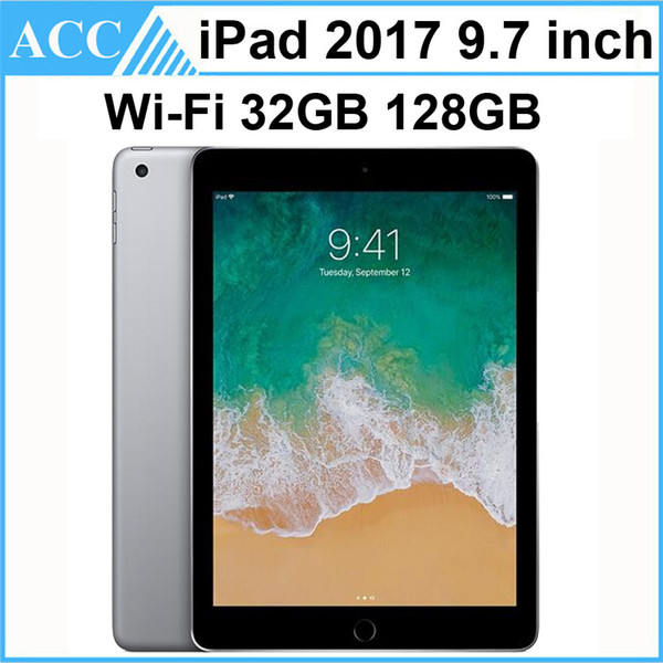 best selling Refurbished Original Apple iPad 2017 9.7 inch 5th Gen WIFI Version A9 Chipset Dual Core 2GB RAM 32GB 128GB ROM Tablet PC Free DHL 1pcs