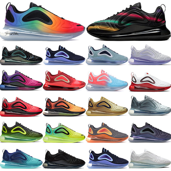 Acquista Nike Air Max 720 Be True 2019 Obsidian Blue Fury Hot Lava OG Scarpe Da Corsa Uomo Donna Bianco Hyper Crimson Sea Forest Sunrise Uomo KPU