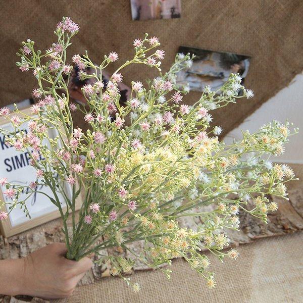5 Forks Baby Breath Artificial Flowers 46cm High Quailty Fake Gypsophila DIY Floral Bouquets Wedding Home Decoration