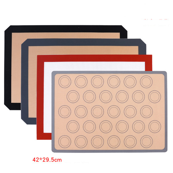 best selling 42*29.5 CM Non-Stick Silicone Baking Mat Pad Sheet Baking pastry tools Rolling Dough Mat Large Size for Cake Cookie Macaron