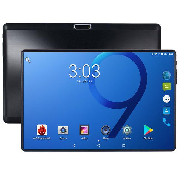 2019 10 Polegada tablet 4 GB de RAM 64 GB de Armazenamento Octa Núcleo Android 7.0 Desbloqueado 3G 4G FDD LTE 2.5D Vidro 1280x800 IPS Google Play Store