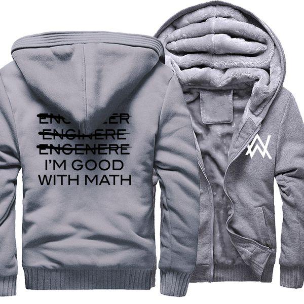 Casual Hoodies For Male Sweatshirts Print I'm An Engineer I'm Good At Math Fashion 2019 Winter Fleece Thick Hoody Sweatshirt Hot
