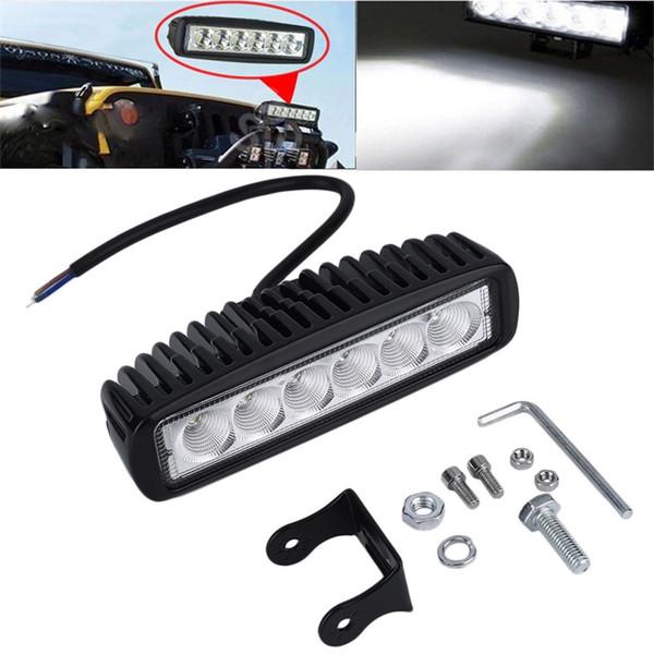18W LED lámpara de barra de luz de trabajo para conducir camión remolque motocicleta SUV ATV OffRoad Car 12 v 24 v punto de inundación envío gratis