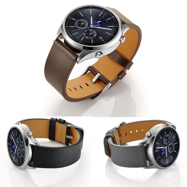 Cinturino per Samsung Galaxy Watch 46mm / Gear S3 Cinturino 22mm Cinturini in pelle con fibbia in acciaio inossidabile per Samsung Galaxy Watch 46mm R800