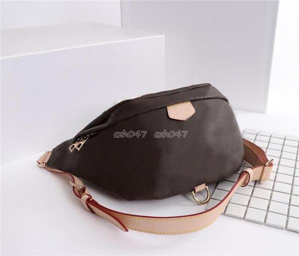 Klasik stil moda Bel Çantası Unisex erkekler ve kadınlar gerçek deri Fanny Paketi ile Kadınlar Crossbody Omuz Çantaları dustbag M43466