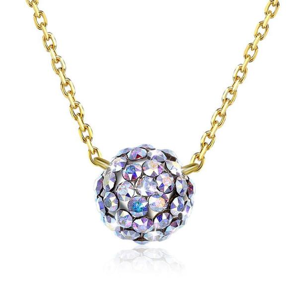 Vente en gros bijoux Argent sterling 925 Boule de Cristal Pendentifs Colliers
