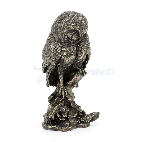 Willoni Ornaments Cold Cast Copper Owl Standing on a Tree for Birthday Gifts and Crafts Decoration Factory crafts Old Statue