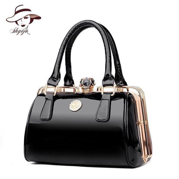Famous Designer Big Women Handbag Patent Leather Shoulder Bags High Quality Diamonds Lady Large Capacity Tote Crossbody Bags
