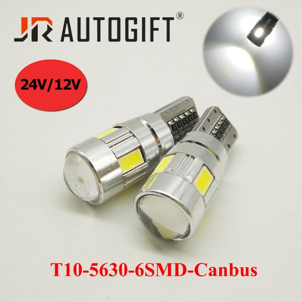 10pcs White 6 5630 LED T10 194 wedge bulbs