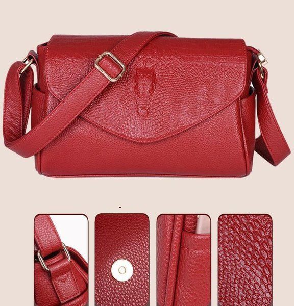 Office Women's Real Leather Soho Disco Purse Brand Designer Women Female Shoulder Bag Crossbody Bags Fashion Cherry Messenger Bag Luggages