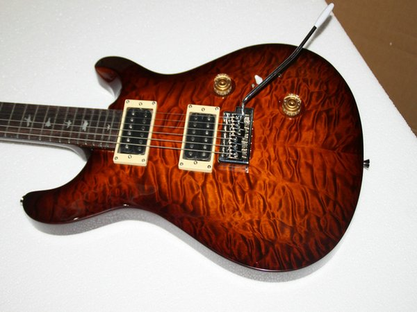 New Arrival Custom Brown Wave Electric Guitar 24 Frets Electric Guitar High Quality From China