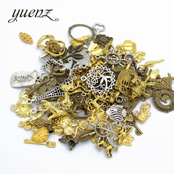 Fashion Jewelry Charms YuenZ 50g/bag Mix Random Pattern Antique Metal Charm Fit Necklace Ring Bracelet Pendant Jewelry making U012