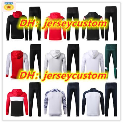 best selling New survêtement man soccer jersey Hoodie tracksuit soccer training suit 2019 20 football shirt maillot de foot adult jacket jogging Designe