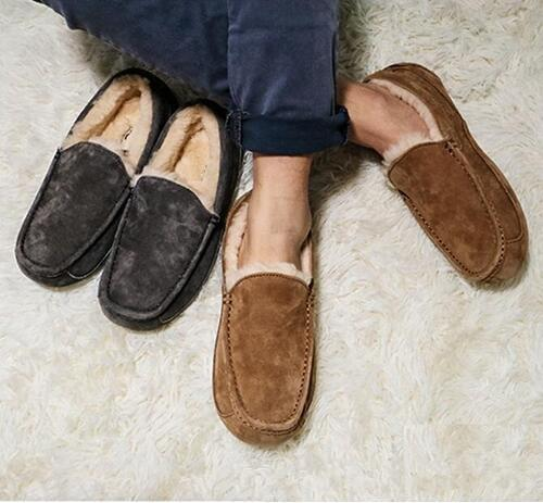 Botas de mujer Botas de diseño Australia Style Mocasines para hombre Cuero Lana Slip On Mocassin Zapatos de conducción Marca Ivg