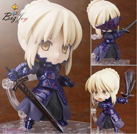 toy Action Figure Fate/stay night Cute Nendoroid 10cm Black Saber PVC Q version clay Toys Model Japanese Anime