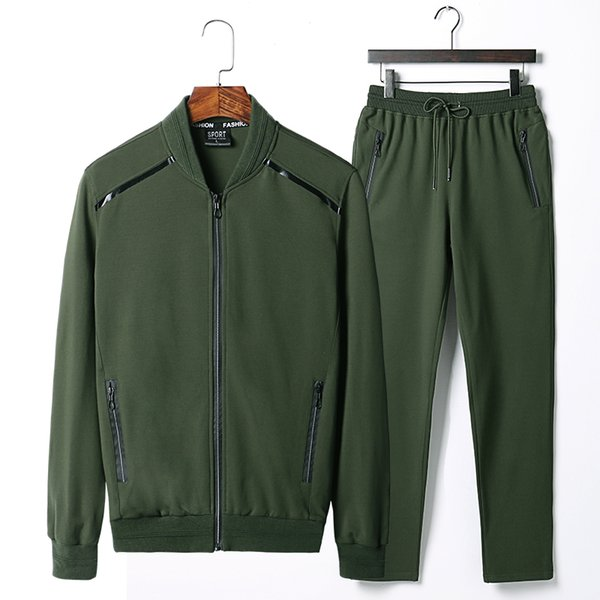 Men's Sportswear Plus Size6XL7XL 8XL 9XL Tracksuit Men Sportswear 2019 Casual Sets Men Zipper Hoodies + Pants Male Sporting Suit