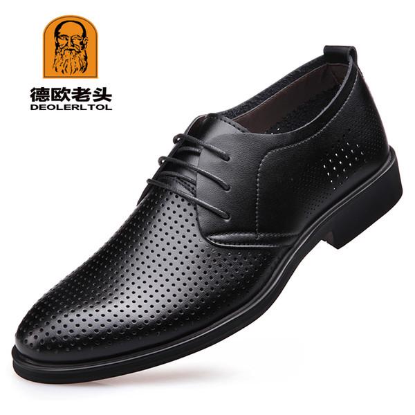 2019 scarpe da uomo in pelle di qualità da uomo di recente qualità scava fuori le scarpe taglia 38-47 nero morbido uomo in pelle estiva