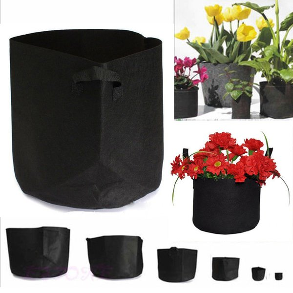 7Tailles Non Tissé Sac De Culture En Tissu Pot Poche Plante Conteneur Racine Sac De Croissance Outils Jardin Pots Planteurs Fournitures