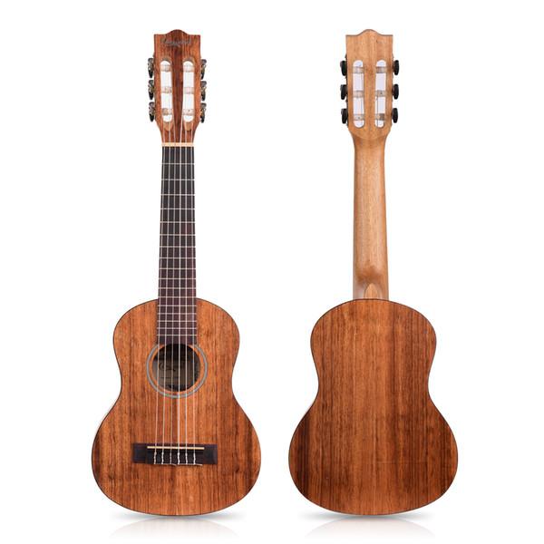 top popular Camwood 21 23 28 inch 15 Frets Mahogany Soprano Ukulele Set Guitar Sapele Teakwood 4 Strings Hawaiian Guitar Musical Instruments 2020