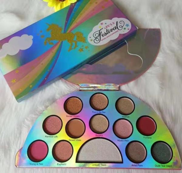 Hot venda de maquiagem New Life Um Festival Paleta 13 cores do arco-íris Eyeshadow enfrentou Sombra Boa Qualidade