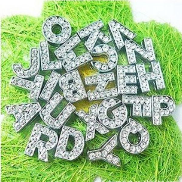 Englisches Alphabet A-Z DIY Dia Buchstaben 10mm Einlegediamant englischer Buchstabe DIY